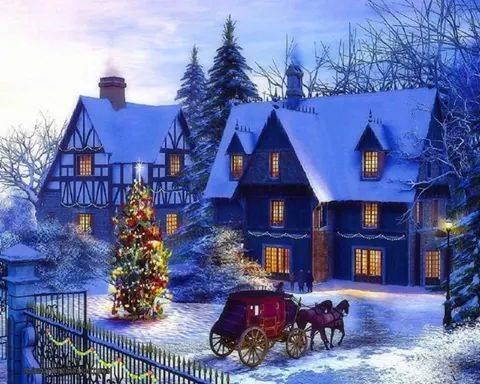 北欧のクリスマス風景