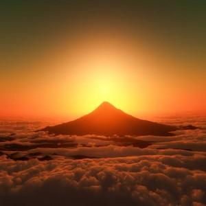 縁起のよい黄金の富士山jpg