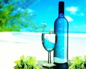 青いボトルn