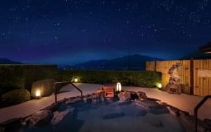 夜空の温泉